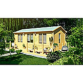 7.0m x 4.0m (23ft x 13ft) Amersham Reverse Home Log Cabin Wooden Log Cabin Double Glazing (70mm Wall Thickness)