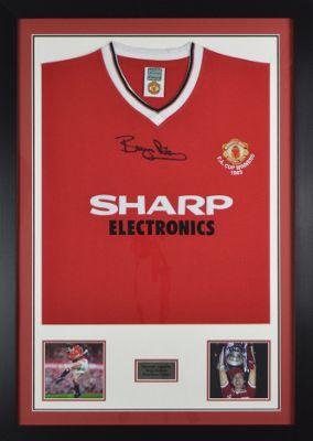 Hand Signed Bryan Robson Man Utd Shirt - Manchester United Legend