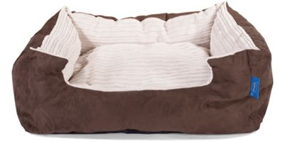Silentnight Micro-Climate Snuggle Dog Bed - Cord Ivory - Small