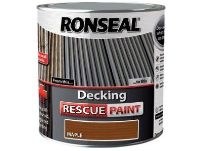 Ronseal Decking Rescue Paint Maple 2.5 Litre RSLDRPM25L