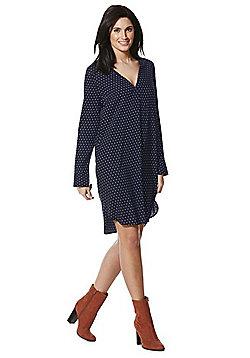 JDY Polka Dot Long Sleeve Shirt Dress - Multi