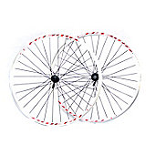 700c Road (Pair) White Double Wall Shimano 2200 Hubs Quick Release