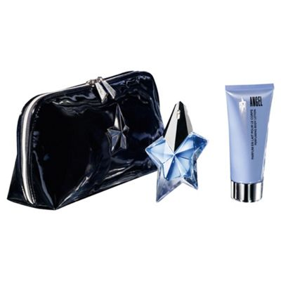 Thierry Mugler Angel Non-Refillable EDP Spray, 100ml Body Lotion & Bag Gift Set