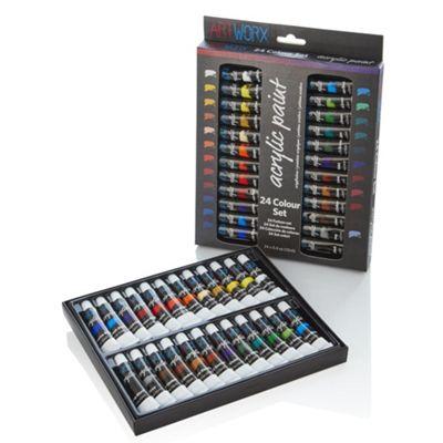 Artworx 24 Acrylic 12ml Paint Tube Set