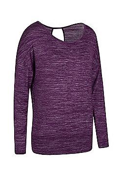 Mountain Warehouse Navasana Wrap Womens Tshirt with Anti-bacterial and IsoCool - Purple