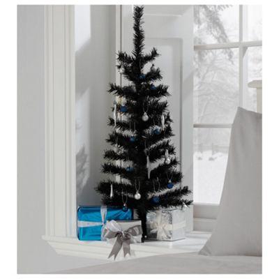 Tesco 3ft Black Christmas Tree