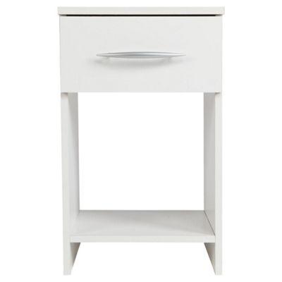 Ashton 1 Drawer Bedside Cabinet, White