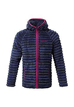 Craghoppers Girls Farley Hooded Fleece Jacket - Navy