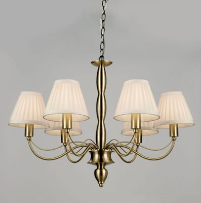 Endon Lighting Charleston Six Light Chandelier in Antique Brass