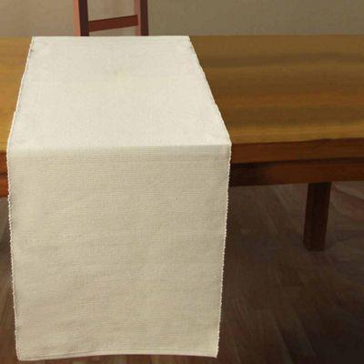 Homescapes Cotton Plain Cream Table Runner