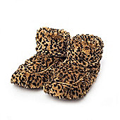 Intelex Tawny Brown Microwavable Cozy Plush Heatable Slippers Boots