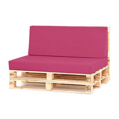 Water Resistant Pallet Large Back Cushion - Cerise
