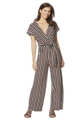 F&F Striped Tie Waist Jumpsuit Multi 16