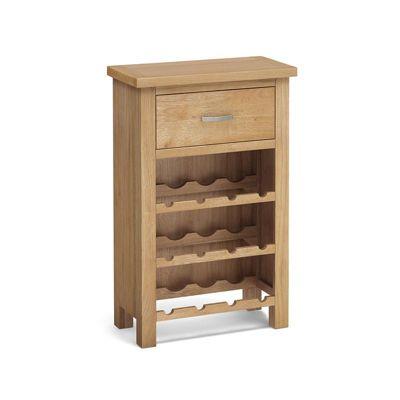 London Oak Wine Cabinet