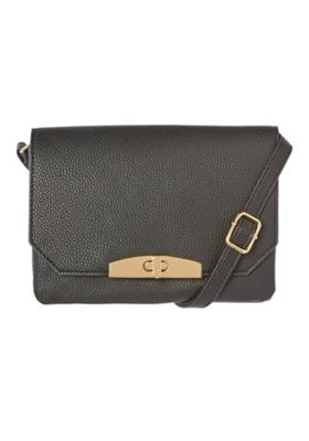 F&F Double Compartment Cross-Body Bag Black One Size