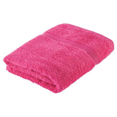 Tesco Fresh Touch Anti-Bacterial Bath Towel Pink