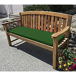 Three Seater Bench Cushion Forest Green