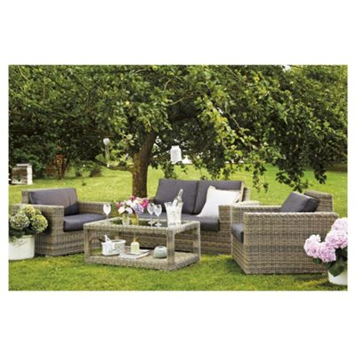 Rattan Garden Furniture Tesco buy oxford 4-piece rattan garden furniture set from our all garden