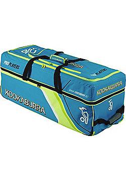 Kookaburra Pro Players Duffel Cricket Holdall Wheelie (EK060) Bag Blue / Lime