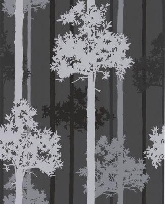 Graham & Brown SFE Nottingham Wallpaper - Black / Silver