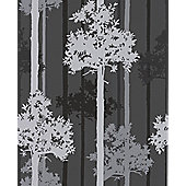 Graham & Brown SFE Nottingham Wallpaper - Black / Silver