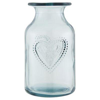 Buy Heart Bottle Vase From Our Vases Bowls Range Tesco