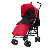 Obaby Atlas Black & Grey Stroller with Red Footmuff - Red