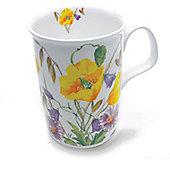 Roy Kirkham English Meadow Yellow Poppy Design Mug