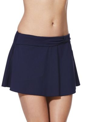 F&F Shaping Swimwear Skirted Bikini Briefs Navy 22