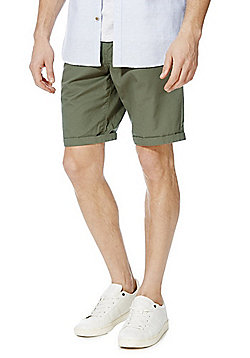 F&F Turn-Up Chino Shorts - Khaki