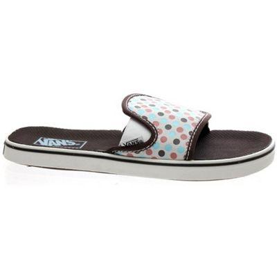 Vans Classic Slide Coffee/Walnut Dot Girls Sandals
