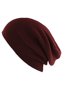 Slouch Burgundy Beanie - Purple