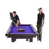 The Amalfi Black Pool Dining Table (With Blue Cloth)