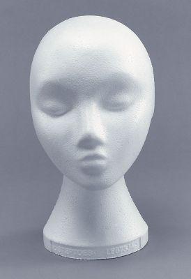 Polystyrene Head.Female