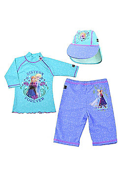 Frozen UV Shirt Shorts and Sun Hat Set 3 to 4 Years