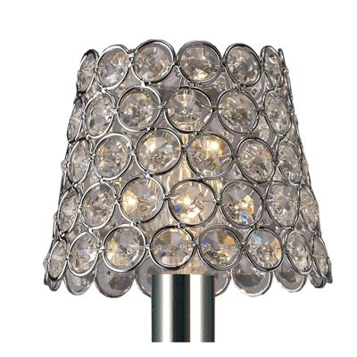 Clip On Crystal Ring Shade Polished Chrome