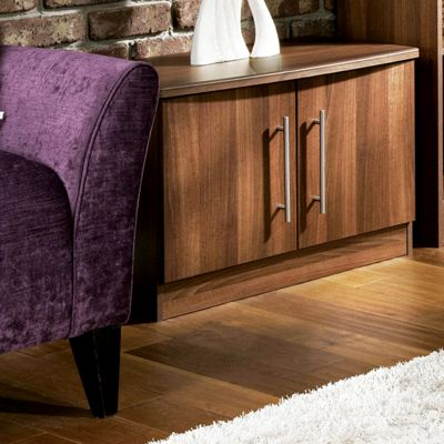 Welcome Furniture Living Room Low 2 Door Unit - Noche