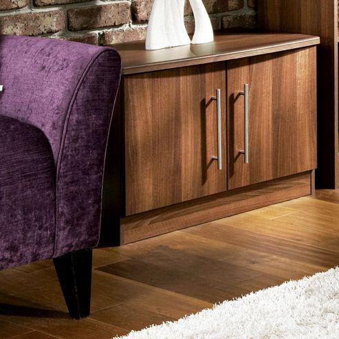 Welcome Furniture Living Room Low 2 Door Unit - Noche