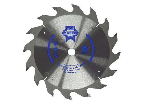 Faithfull Trim Saw Blade 150 x 10mm x 24T Fast Rip