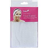 Pretty White Microfibre Adjustable Make-Up Headband