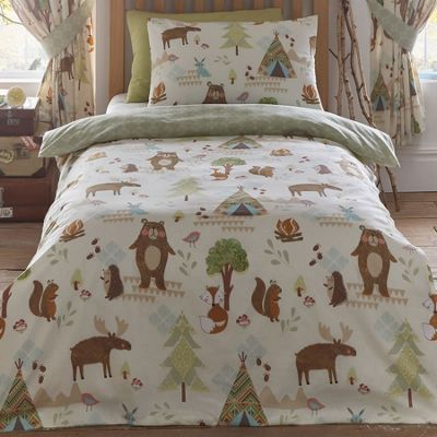 buy yellowstone woodland animals double duvet from our. Black Bedroom Furniture Sets. Home Design Ideas