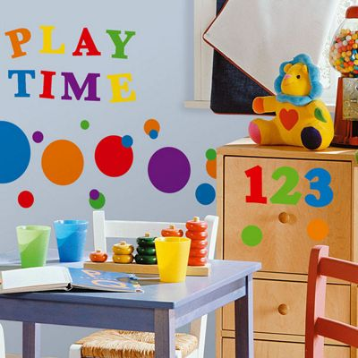 Childrens Wall Stickers - Primary Numbers