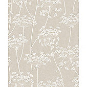 Superfresco Easy Aura Paste The Wall Branch Taupe Wallpaper