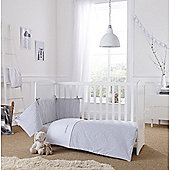 Clair de Lune 2pc Cot/Cot Bed Bedding Set (Barley Bebe Grey)
