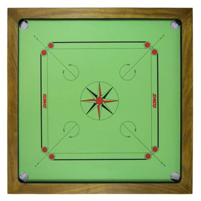 Carrom Board by Synco - Unique Green Colour - Made in India by Famous Professional Carrom Equipment Brand Synco