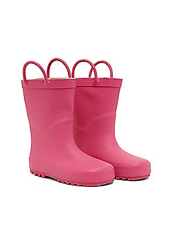 Mothercare Young Girls Pink Pull On Wellies Wellington Boots Size 1 adlt