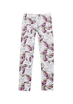 F&F Unicorn Print Leggings - Multi