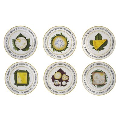 The Cheese Board Plates set of 6