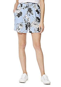 F&F Floral Print Shorts - Blue