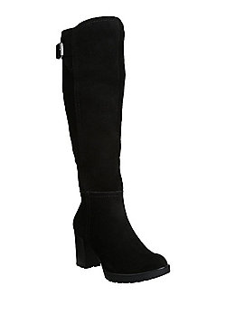F&F Sensitive Sole Suede Knee High Boots - Black